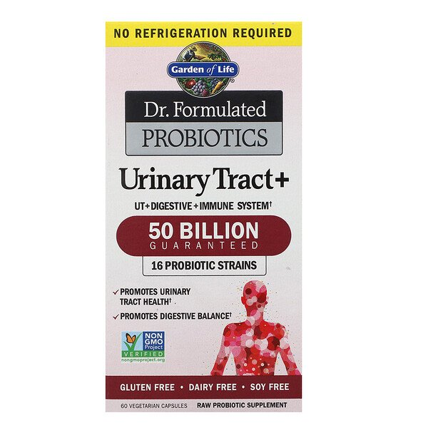 Dr. Formulated Probiotics, Urinary Tract+, 60 Vegetarian Capsules