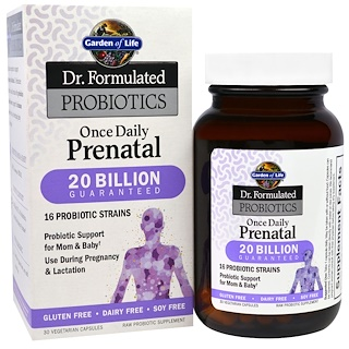 Garden of Life, Dr. Formulated Probiotics, Once Daily Prenatal, 30 Veggie Caps