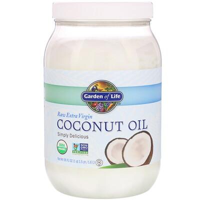 Купить Garden of Life Необработанное кокосовое масло холодного отжима, 1, 6л (56жидких унций)