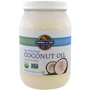 Garden of Life, Raw Extra Virgin Coconut Oil, 56 fl oz (1.6 l)