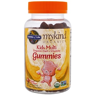 Garden of Life, Mykind Organics, Kids Multi Gummies, Fruit Flavor, 120 Gummy Bears