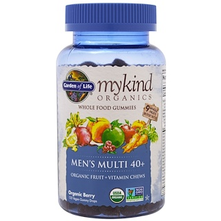 Garden of Life, Mykind Organics, Men's Multi 40+, Organic Berry, 120 Gummy Drops