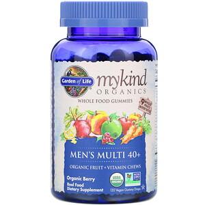 Гарден оф Лайф, MyKind Organics, Men's Multi 40+, Organic Berry, 120 Vegan Gummy Drops отзывы покупателей