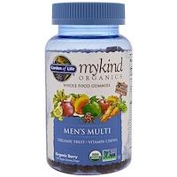 Mykind Organics, поливитамины для мужчин, органическая ягода, 120 жевательных конфет - фото