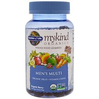 Garden of Life, Mykind Organics, Men's Multi, Organic Berry, 120 Gummy Drops