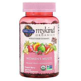 Garden of Life, MyKind Organics, Women's Multi, Organic Berry, 120 Vegan Gummy Drops