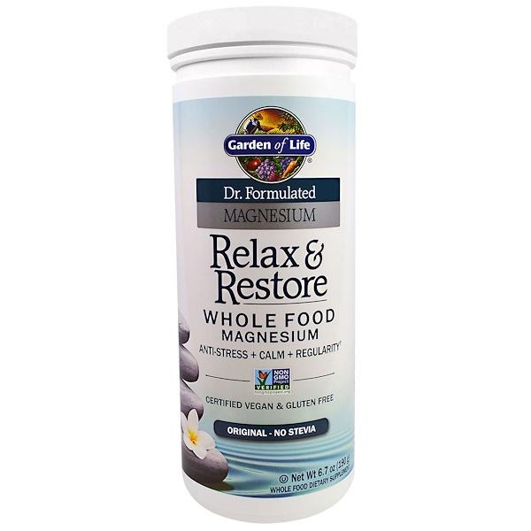 Garden of Life, Dr. Formulated Magnesium Relax & Restore, Original, 6.7 oz (190 g) (Discontinued Item)