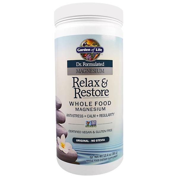 Garden of Life, Dr. Formulated Magnesium Relax & Restore, Original, 13.4 oz (381 g) (Discontinued Item)