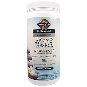 Гарден оф Лайф, Dr. Formulated Magnesium Relax & Restore, Original, 13.4 oz (381 g) отзывы