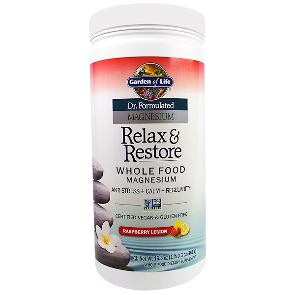 Garden of Life, Dr. Formulated Magnesium Relax & Restore, Raspberry Lemon, 16.3 oz (461 g) (Discontinued Item)