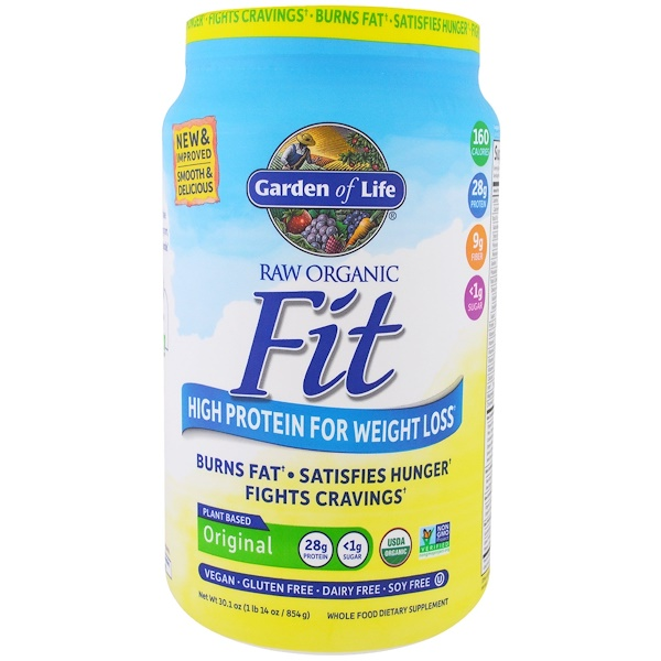 Garden of Life, Raw Organic Fit, High Protein For Weight Loss, Original, 1.88 lbs (854 g)