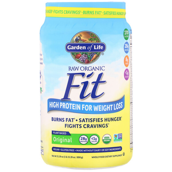 RAW Organic Fit, High Protein for Weight Loss, Original, 31.39 oz (890 g)