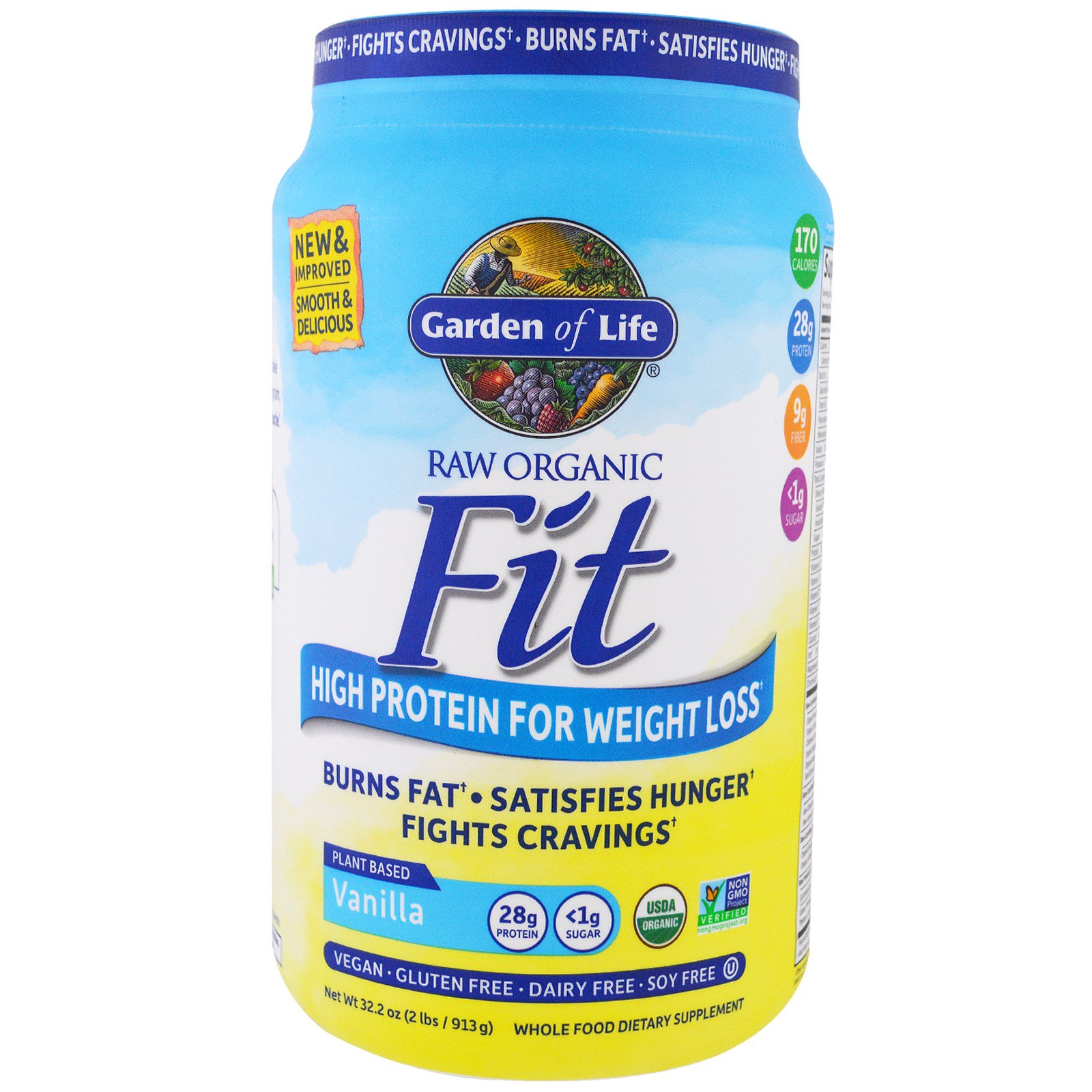 garden of life raw organic fit high protein for weight loss vanilla - Garden Of Life Raw Fit
