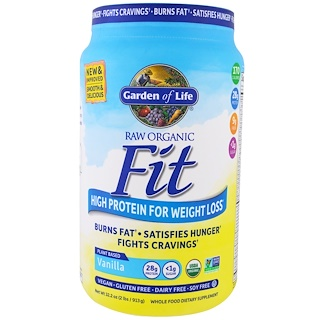 Garden of Life, Raw Organic Fit, High Protein For Weight Loss, Vanilla, 2 lbs (913 g)