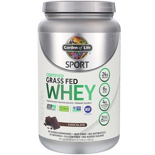 Garden of Life, Sport, Certified Grass Fed Whey, Refuel, Chocolate, 23.28 oz (660 g)