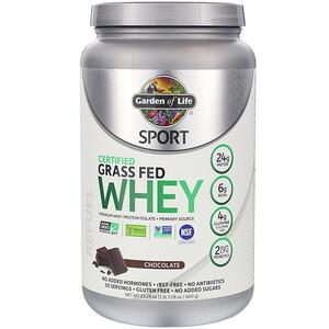 Гарден оф Лайф, Sport, Certified Grass Fed Whey, Refuel, Chocolate, 23.28 oz (660 g) отзывы покупателей