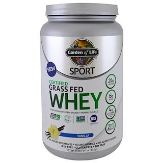 Garden of Life, 스포츠, 인증된 풀을 먹인 유청 단백질, 리퓨얼, 바닐라, 23 oz (652 g)