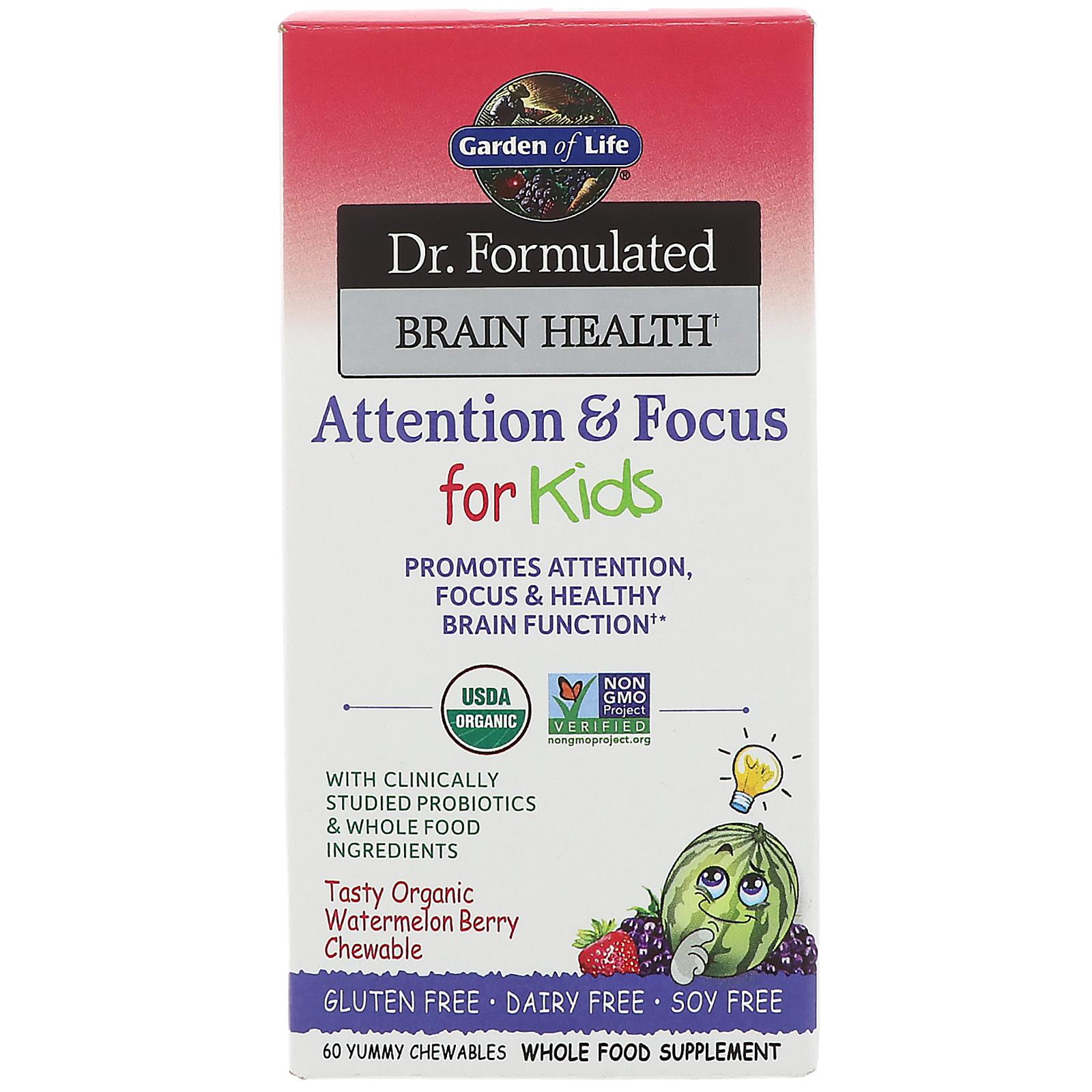 Garden of life dr formulated brain health attention - Garden of life children s probiotics ...