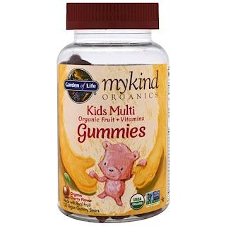 Garden of Life, Mykind Organics, Kids Multi, Organic Cherry Flavor, 120 Gummy Bears
