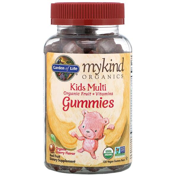 MyKind Organics, Kids Multi, Organic Cherry Flavor, 120 Vegan Gummy Bears