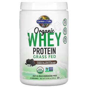 Гарден оф Лайф, Organic Whey Protein Grass Fed, Chocolate Cacao, 13.96 oz (396 g) отзывы покупателей
