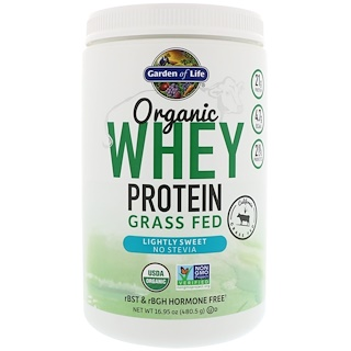 Garden of Life, Organic Whey Protein Grass Fed, Lightly Sweet, 16.95 oz (480.5 g)