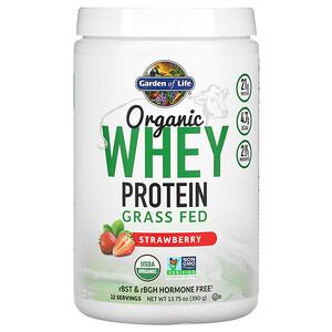 Гарден оф Лайф, Organic Whey Protein Grass-Fed, Strawberry, 13.75 oz (390 g) отзывы покупателей