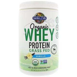 Garden of Life, Organic Whey Protein Grass Fed, Vanilla, 13.37 oz (379 g)