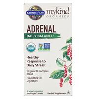 MyKind Organics, средство для надпочечников, ежедневный баланс, 120 веганских таблеток - фото