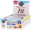 Garden of Life, Organic Fit, батончик для похудения с высоким содержанием протеина, смор, 12 батончиков, 1,9 унц. (55 г) каждый