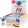 Garden of Life, Organic Fit, barra rica en proteínas para la pérdida de peso, almendras con chocolate y coco, 12 barras, 1.9 oz (55 g) c/u