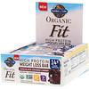 Garden of Life, Organic Fit, 高蛋白塑身棒,巧克力包櫻桃,12 條,每條 1.9 盎司(55 克)