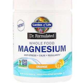 Garden of Life, Dr. Formulated, Whole Food Magnesium Powder, Orange, 14.8 oz (419.5 g)