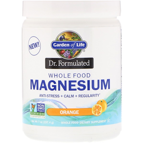 Dr. Formulated, Whole Food Magnesium Powder, Orange, 7 oz (197.4 g)