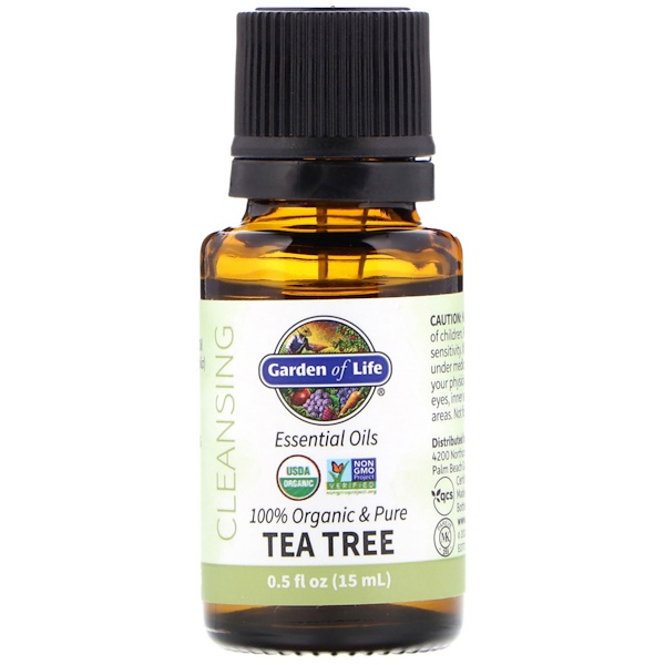 100% Organic & Pure, Essential Oils, Cleansing, Tea Tree, 0.5 fl oz (15 ml)