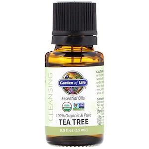 Гарден оф Лайф, 100% Organic & Pure, Essential Oils, Cleansing, Tea Tree, 0.5 fl oz (15 ml) отзывы