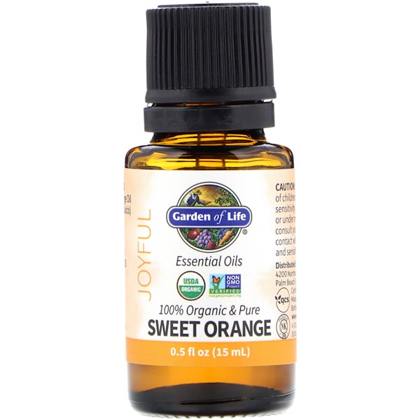 100% Organic & Pure, Essential Oils, Joyful, Sweet Orange, 0.5 fl oz (15 ml)