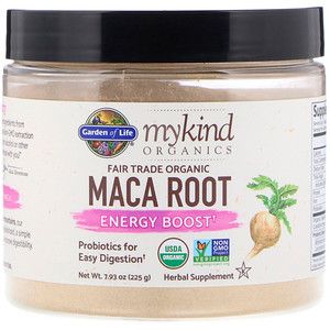 Гарден оф Лайф, MyKind Organics, Fair Trade Organic Maca Root, Energy Boost, 7.93 oz (225 g) отзывы покупателей
