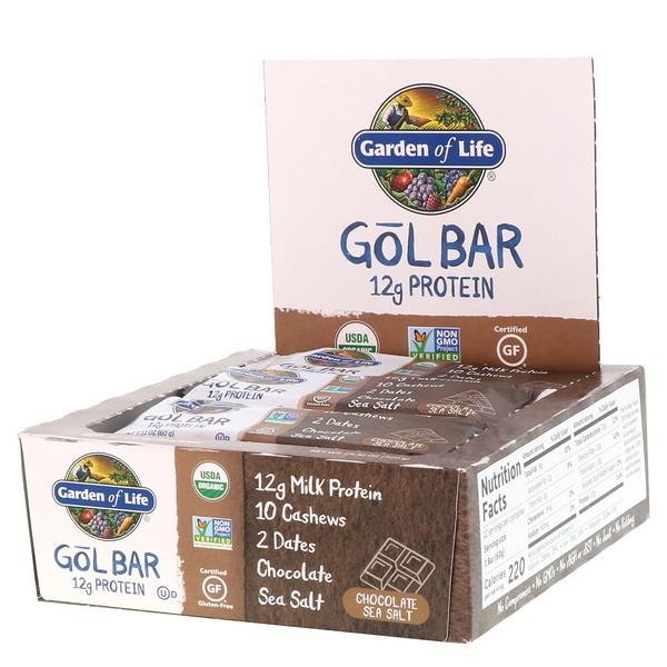 Garden of Life, GOL Bars, Chocolate Sea Salt, 12 Bars, 2.11 oz (60 g) Each
