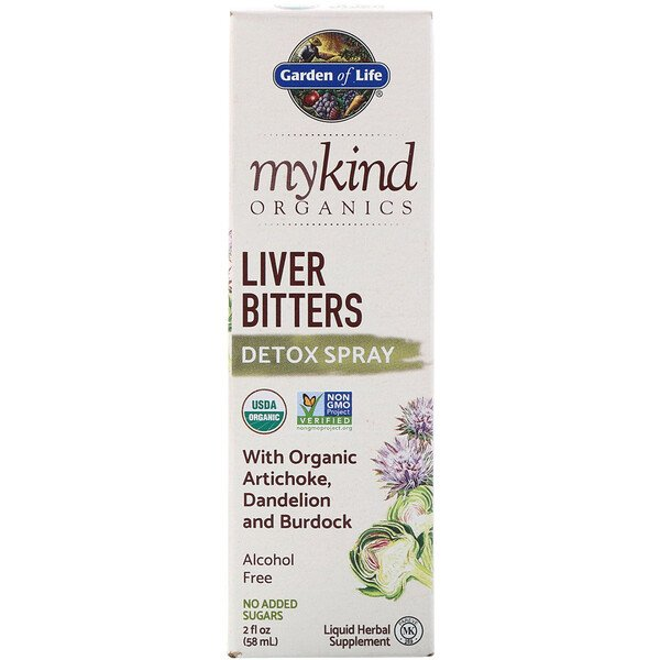Garden of Life, MyKind Organics, Leberbitters Detox Spray, 2 fl oz (58 ml)