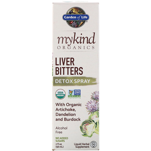 Garden of Life, MyKind Organics, Liver Bitters Detox Spray, 2 fl oz (58 ml)