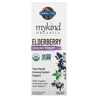 Garden of Life, MyKind Organics, Holunder-Immun-Sirup, 195ml (6,59fl.oz.)