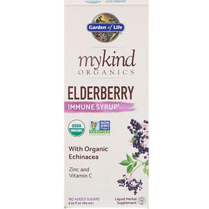 Гарден оф Лайф, MyKind Organics, Elderberry Immune Syrup, 6.59 fl oz (195 ml) отзывы покупателей