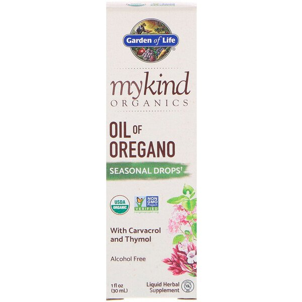 MyKind Organics, Oil of Oregano, Seasonal Drops, 1 fl oz (30 mL)