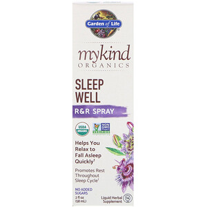 Гарден оф Лайф, MyKind Organics, Sleep Well, R&R Spray, 2 fl oz (58 ml) отзывы покупателей