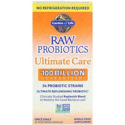 Купить Garden of Life RAW Probiotics Ultimate Care, 30 Vegetarian Capsules