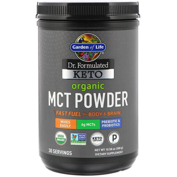 Garden of Life, Dr. Formulated Keto, Organic MCT Powder, 10.58 oz (300 g)