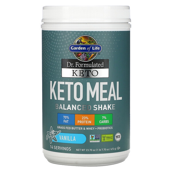 Dr. Formulated Keto Meal Balanced Shake, Vanilla, 23.70 oz (672 g)