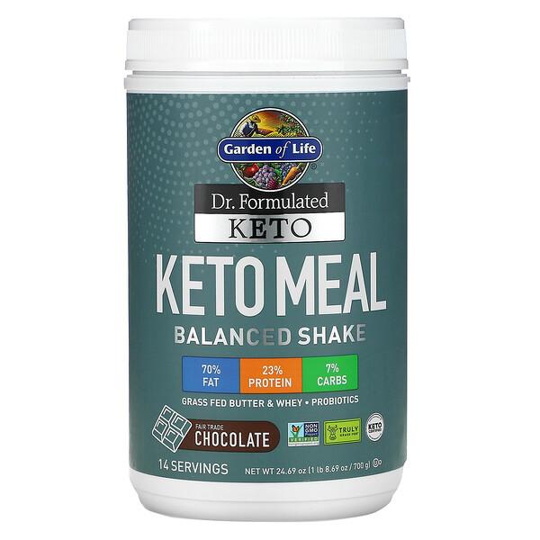 Dr. Dr. Formulated، دقيق مخفوق نظام الكيتو الغذائي المتوازن، بطعم الشوكولاتة، 1.54 رطل (700 جم)