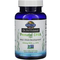Garden of Life, Dr. Formulated, Vegan Prenatal DHA, 400 mg , 30 Softgels